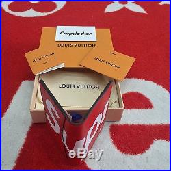 100% AUTHENTIC NEW Supreme x Louis Vuitton Pocket Organiser Wallet Red M67714