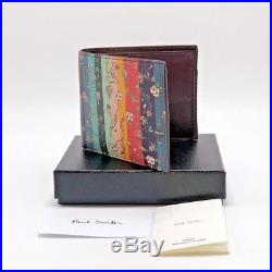 $275 Paul Smith Mens Balloons Floral Leather Billfold Wallet/ Coin Case