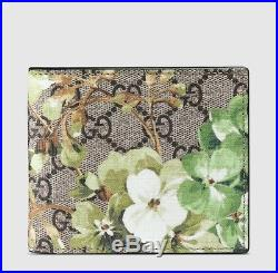 a9f9e19b2379 $495 Gucci Men's Beige/ebony GG Blooms Floral Coated Canvas Wallet 408666  8966