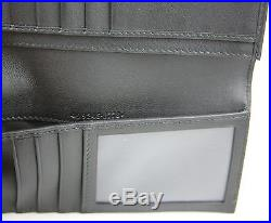 $625 Gucci Men's Black Microguccissima Leather Wallet with ID window 449245 1000