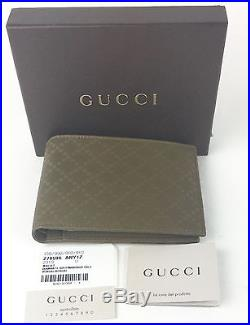 AUTHENTIC New Gucci Men's Large Leather Margaux Diamante Wallet #278596, NWT