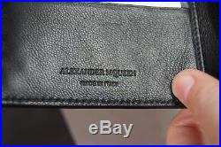 Alexander McQueen Men Rib Cage-Embossed Leather 8CC Wallet NEW NIB
