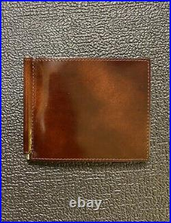Alfred DUNHILL Mens Trifold Wallet with Money Clip Billfold NIB VERY RARE + FS