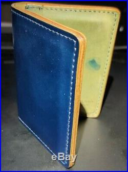 Ashland Leather Bugs Moran Intense Blue Shell Cordovan Wallet/Credit Card Holder