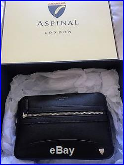 Aspinal of London Mens Leather Clutch Bag