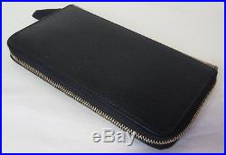 Auth 2017 Burberry Zip Around Mens Leather & House Check Wallet 4039701