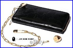 Authentic A Bathing APE BAPE JAM HOME MADE WALLET AND WALLET CHAIN SET GOLD NEW