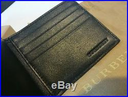 Authentic Burberry Mens Leather International Bifold ID Coin Wallet- RRP$590