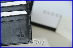 Authentic GUCCI Guccissima Web GG Black Bifold Leather RED GREEN Men Wallet
