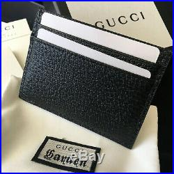 Authentic Gucci Gg Marmont Card Holder Black Leather Men Wallet Case Purse