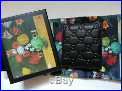 Authentic Gucci Men's Black Real Leather Wallet 01k