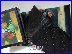 Authentic Gucci Men's Black Real Leather Wallet 05k