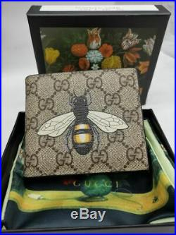 Authentic Gucci Men's Leather BEE Wallet 11kb