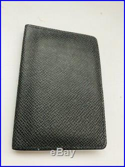 Authentic Louis Vuitton Taiga Leather Mens Bi-fold Wallet FREE Shipping