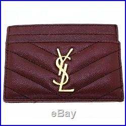 Authentic Yves Saint Laurent Red Leather Wallet