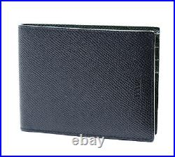 BALLY New Blue Green Calf Leather Wallet Mens Bifold BALIKY US B 367 Womens Auth