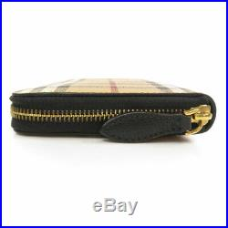 BURBERRY Long wallet (with Coin Pocket) Nova Check Leather