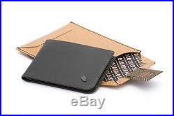 Bellroy Leather Hide & Seek Wallet Charcoal Arctic Blue