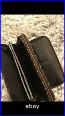 Berluti Mens Long Wallet Genuine Old Logo Golden Patine Leather Rare F/s From Jp
