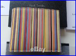 Brand New 100% Genuine Paul Smith Signature Stripe Wallet Made In Italy Rrp £140