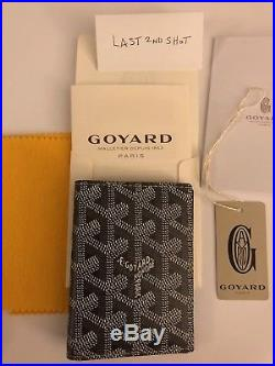 Brand New Goyard St. Marc Cardholder Wallet Grey with box and tags St Pierre