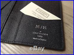 Brand New Louis Vuitton Men's Wallet Taiga Embossed Black Leather Card Holder