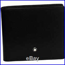 Brand New Montblanc Meisterstuck Wallet 8Cc Black Leather 10.5X9.5Cm MB-07163