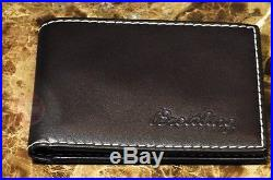 Breitling Wallet Brown with White Stitch