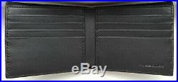 Burberry Bifold Wallet 100% Authentic Grainy Leather And House Check Men's Black