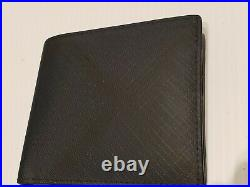 Burberry Check & Leather Mens International Bifold Wallet