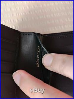 Burberry Grainy Leather House Check Black Men wallet New in Box