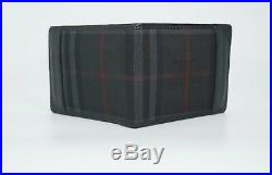 Burberry Men's Horseferry Check Hipfold Canvas & Leather Wallet, Black, MSRP $395