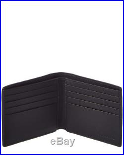 Burberry Mens House Check & Leather Bifold Wallet, Black