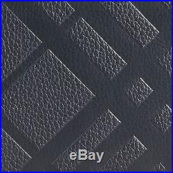 CLEARANCE BURBERRY Men classic embossed check leather bifold wallet Black ITALY