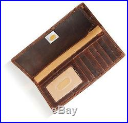 Carhartt Men's Oil Tan Rodeo Wallet Genuine Leather Brown withGift Box One Size