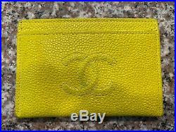 Chanel Timeless Card Holder Caviar Yellow Pre-Owned