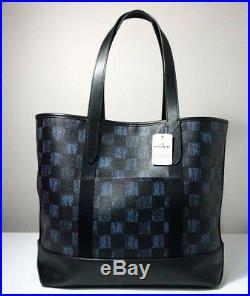 Coach Mens Graphic Checker Print West Tote Bag and Wallet Set F23250
