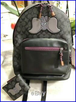 Coach x Disney Dumbo Lg West Backpack In Signature Canvas w Matching Wallet $848