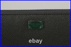 DOLCE & GABBANA Wallet Gray Dauphine Leather Continental Mens Clutch RRP $600