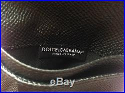 DOLCE /& GABBANA CASTLE KEY SAFFIANO LEATHER WALLET WITH COIN POUCH