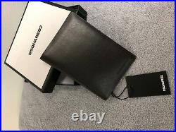 Dsquared Mens Wallet Black Leather Cost £235