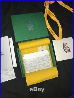 GOYARD ST. Sulpice Card Holder in WHITE 100% AUTHENTIC