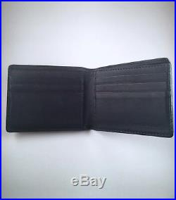 GREAT $360! Burberry wallet bifold check plaid black 100% Authentic