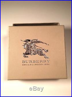 GREAT! Burberry wallet leather Horse ferry check Black 100% AUTHENTIC+RECEIPT