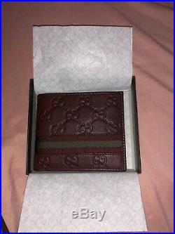 GUCCI Leather Brand New Bifold Mens WALLET