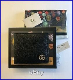 GUCCI Men's Black Bifold Wallet, Made In Italy
