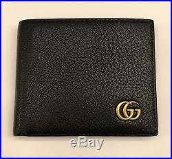 GUCCI Men's Black Bifold with Coin Pocket Wallet 100 Authentic