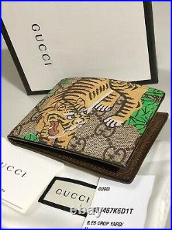 GUCCI Men's GG Supreme Bengal Tiger Leather Wallet