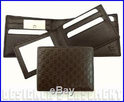 GUCCI Mens brown MICRO GUCCISSIMA removable ID Window INSERT wallet NIB Authentc