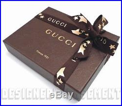 GUCCI beige Original GG canvas brown pebbled leather BIFOLD wallet NIB Authentic